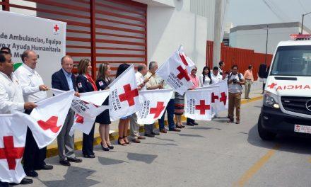 Entregan equipo a las delegaciones de la Cruz Roja SLP