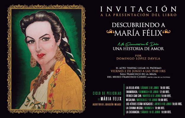 Presentarán libro sobre María Félix