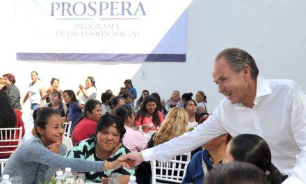 PROSPERA atiende a más de 200 mil familias en SLP