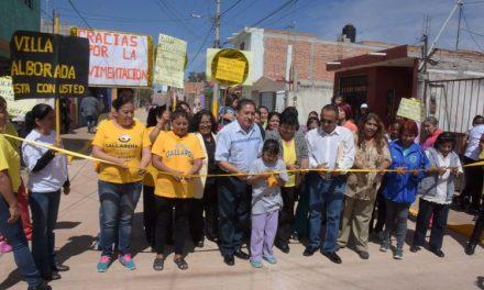 GHV inauguró pavimentación calle Villa de Oriente