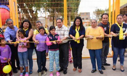 Inauguran área recreativa en la colonia Hogares Obreros