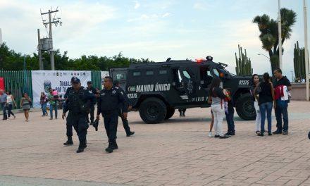 Operativo de seguridad en la FENAPO 2017