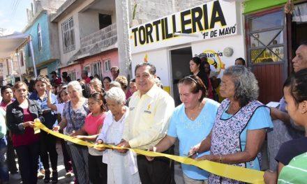 GHV inauguró expendio de tortillería a bajo costo
