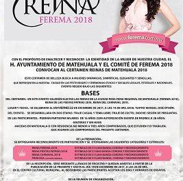 Convocan a reina de FEREMA 2018