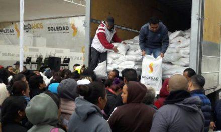 Programa apoyo alimentario continúa en SGS