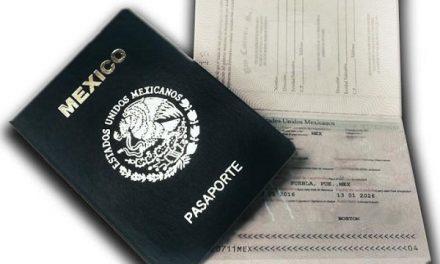 Nuevos costos de pasaportes en 2018