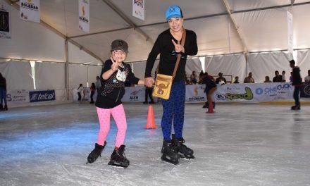 Más diversión en pista de hielo en Soledad