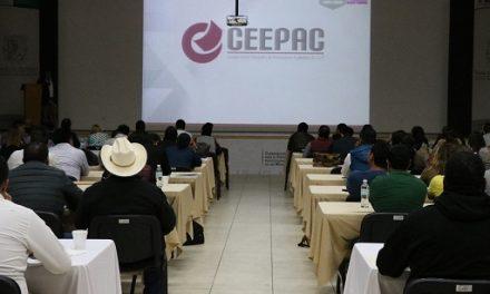 Capacitación a municipios en materia electoral