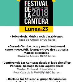 Actividades artísticas y culturales en el Festival de la Cantera