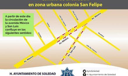 Cambios de circulación Av. San Luis