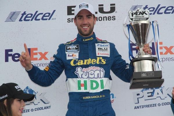 Triunfa Rubén García Jr en NASCAR Puebla