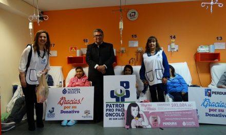 Patronato Pro Paciente Oncológico  recibe donativo
