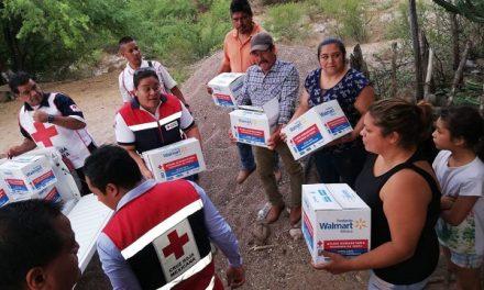 Cruz Roja SLP entrega ayuda humanitaria