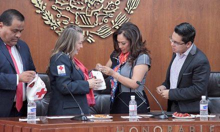Congreso entrego donativo a Cruz Roja
