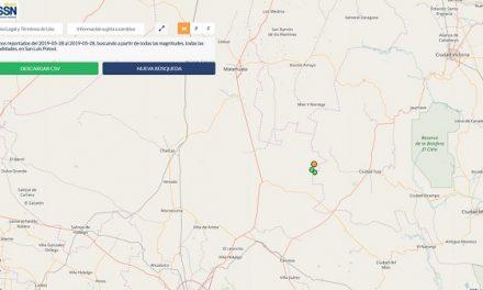 Se registraron dos sismos en SLP
