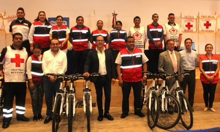 Entregan bicicletas a la Cruz Roja