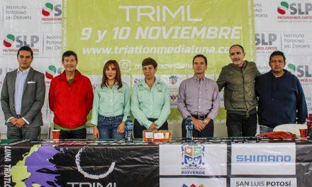 Presenta Edición 23 del Triatlón Media Luna