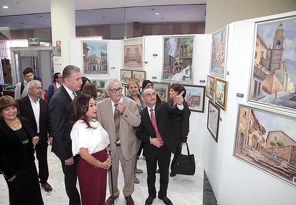 """Exposición """"Estampas Potosinas, Óleos y Acuarelas"""""""