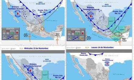 Descenso de temperatura por tormenta invernal