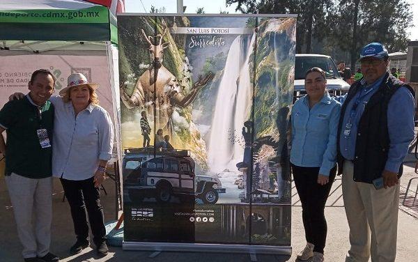 SLP presenta stand turístico en la Nascar