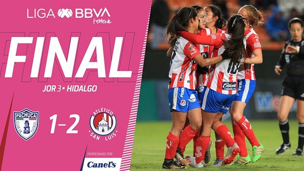 Atlético de San Luis derrota al Pachuca Femenil