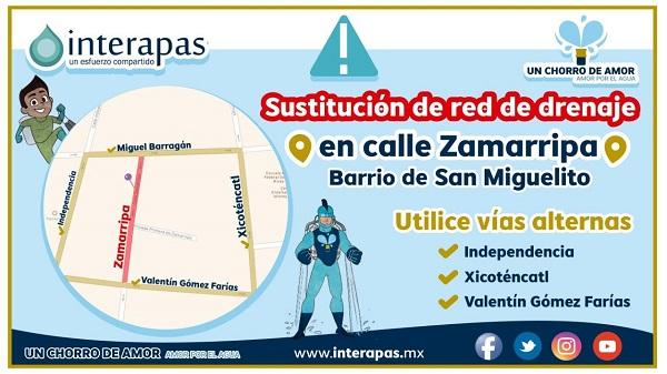 Interapas arranca obra en calle Zamarripa