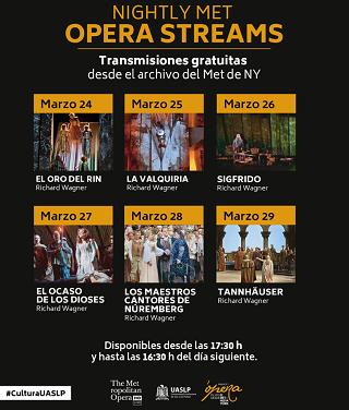 UASLP invita a ver ópera del Met de Nueva York