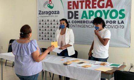 Apoyo por 5 mil pesos a comerciantes en Zaragoza