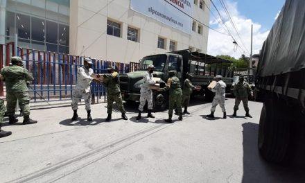 Ejército Mexicano entrega medicamentos al Hospital Morones