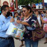 Obras diversas y la entrega de apoyo alimentario