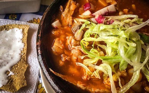 Pozole comida mexicana muy saludable