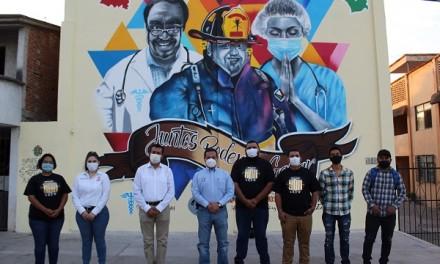 """Inauguración del mural """"Juntos Podemos Ganar"""""""
