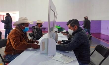 """Reciben agricultores pago seguro """"Agrícola Catastrófico 2019"""""""