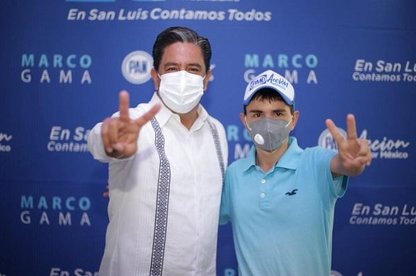 Marco Gama recorre municipios de la región Huasteca