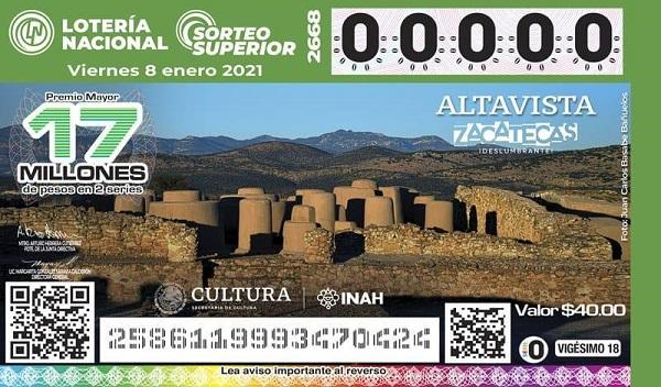 Altavista en boleto de la Lotería Nacional