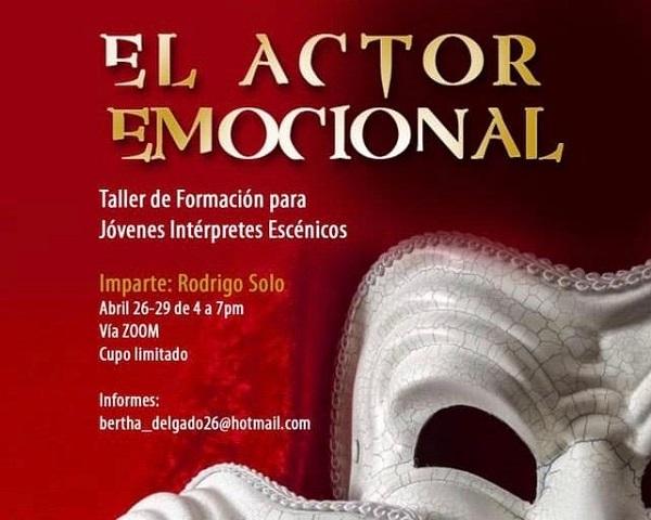 """TALLER VIRTUAL """"EL ACTOR EMOCIONAL"""""""